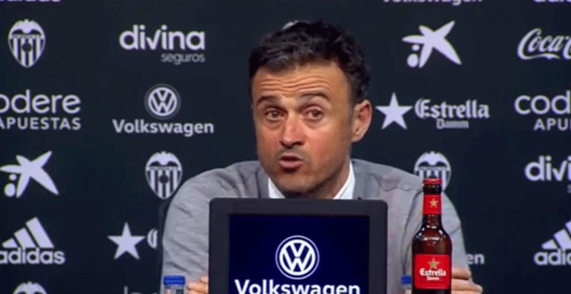 """Luis Enrique: \""""No era un partido f�cil de preparar\"""""""