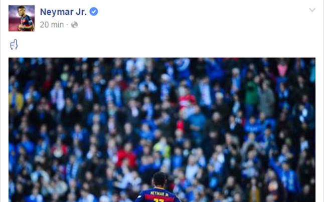 �Mensaje de Neymar a la afici�n del Espanyol?