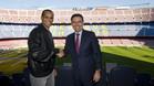 Rivaldo, de visita en el Camp Nou