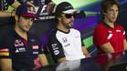 Sainz Jr, Alonso y Merhi, en rueda de prensa
