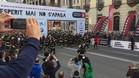 La salida de los bomberos en las calles de Barcelona