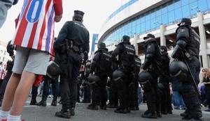 Habrá un importante despliegue policial en la final de la Copa del Rey