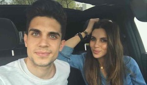 Marc Bartra y Melissa Jiménez se casan