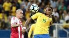 Paulinho, con la selección de Brasil