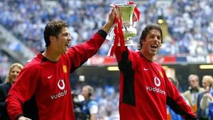 Cristiano y Van Nistelrooy, durante su etapa en el Manchester United