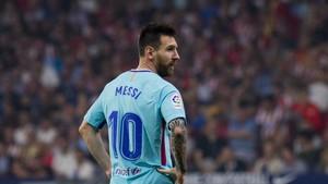Messi fue titular en el Wanda