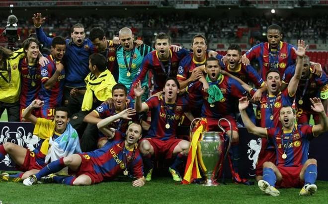 El FC Barcelona ganó su cuarta Copa de Europa en Wembley en el2011