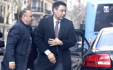 Bartomeu, el d�a que compareci� ante el juez Ruz por el 'caso Neymar'