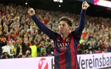 Leo Messi estaba encantado por el cari�o que recibi� del Camp Nou en el Bar�a-Bayern