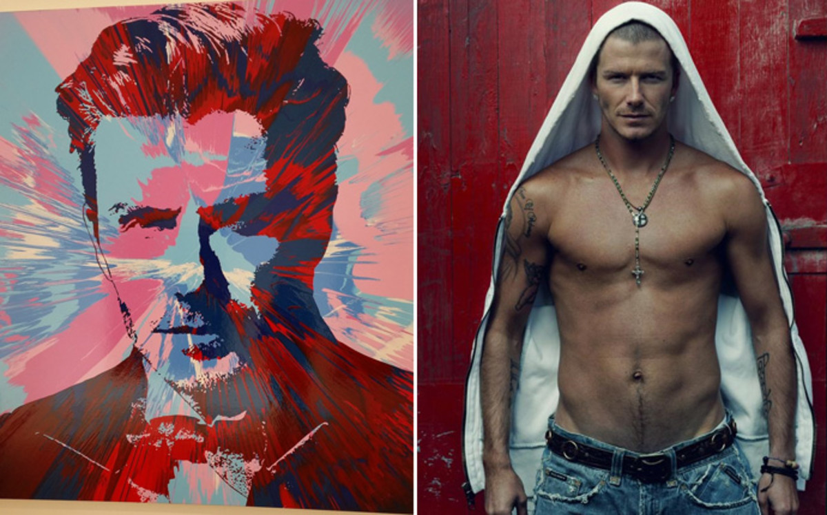 Vendido un retrato de Beckham por casi 100.000 euros