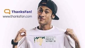 Neymar es la imagen de su fundación, el Instituto Projeto Neymar Jr.