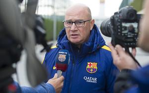 Xavi Llorens, entrenador del FC Barcelona Femenino