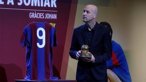 Emocionado tras el vídeo de su padre, Jordi fue breve en su discurso