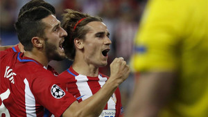 Griezmann marcó el único gol de un partido que deja la eliminatoria abierta
