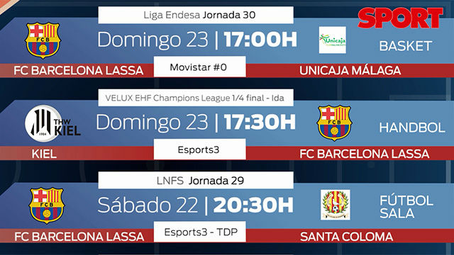 La agenda Barça del fin de semana
