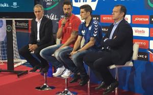 FC Barcelona y Movistar Inter comparecieron ante los medios en el Palau