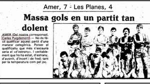Una de las primera crónicas que escribió Carles Puigdemont con solo 16 años