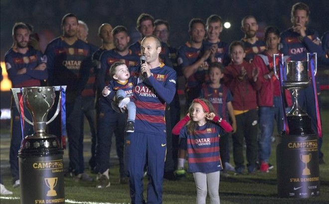 Andr�s Iniesta ha completado una temporada excepcional en el FC Barcelona