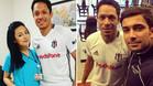 Dos im�genes subidas a Twitter por seguidores y empelados del Besiktas posando junto a Adriano Correia