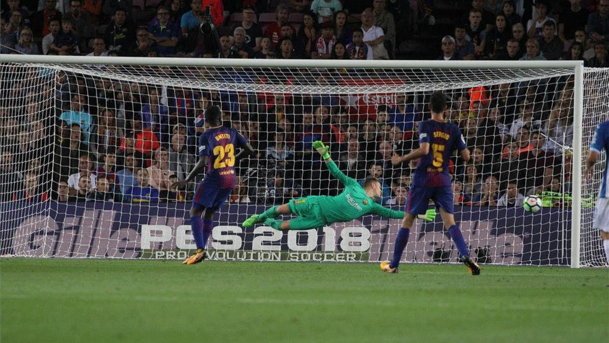 LALIGA | Barça-Espanyol (5-0): El paradón de Ter Stegen