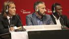 Míchel Salgado, Gianluca Zambrotta (centro) y Marcel Desailly