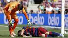 Leo Messi se lesionó en la rodilla izquierda