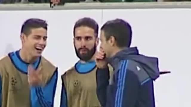 La risa de James mientras su equipo perdía