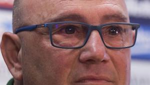 Xavi Llorens se emocionó en la rueda de prensa