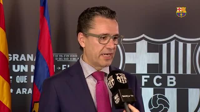 El portavoz del Barcelona, Josep Vives comentó la ratificación de la condena a Messi