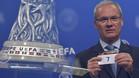 Giorgio Marchetti, secretario general de la UEFA, ha realizado el sorteo