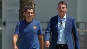 Valverde y Robert Fernández trabajan en el nuevo FC Barcelona