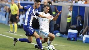 Ceballos debutó como titular con dos goles