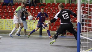 Dyego firmó el segundo tanto azulgrana ante el campeón húngaro