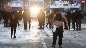 Las calles de Marsella vivieron graves incidentes