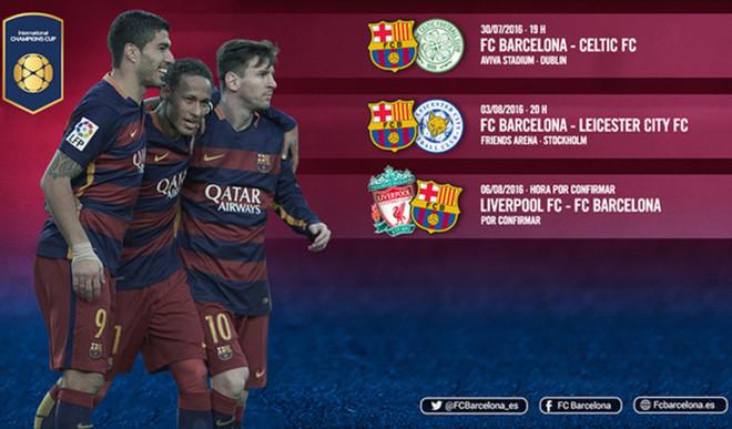 El calendario del FC Barcelona en la International Champions Cup 2016