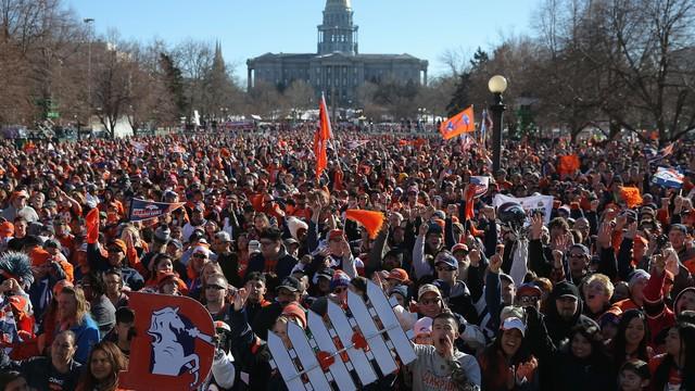El espectacular recibimiento de Denver a los Broncos