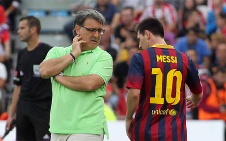 Gerardo Martino junto a Leo Messi en su etapa como entrenador del Bar�a