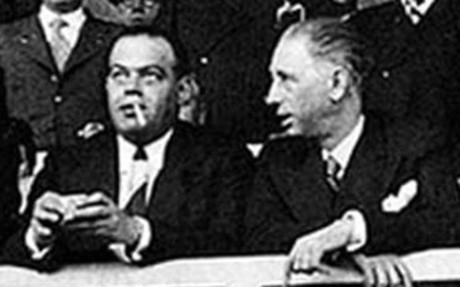 Josep Su�ol, junto al ex presidente de la Generalitat Llu�s Companys