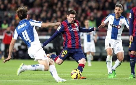 Leo Messi fue decisivo en el duelo disputado en el Camp Nou