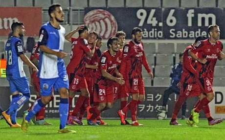 Los jugadores del Sevilla celebrando uno de los goles