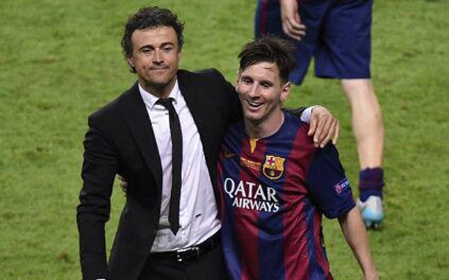 Photo of Luis Enrique & his friend football player  Leo - FC Barcelona