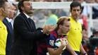 Luis Enrique y Rakitic durante el Rayo-Barça de la Liga 2014-15