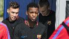 Munir sigue entrenando con el Barça a la espera de concretar su futuro