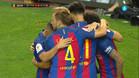 El Barça celebra el primer gol