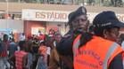 Una avalancha de aficionados a la entrada del estadio provocó la tragedia