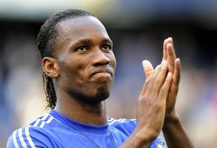 Drogba, en su despedida del Chelsea