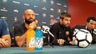 Piqué y Mascherano, en rueda de prensa