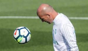 Zidane, durante el entrenamiento