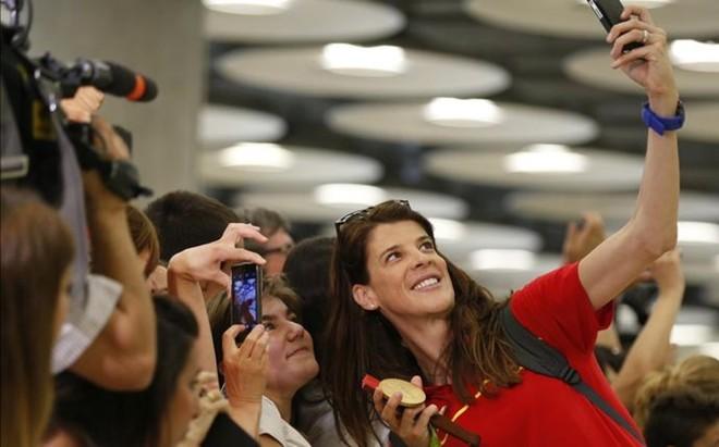Ruth Beitia no olvida el recibimiento que le dispensaron en Santander