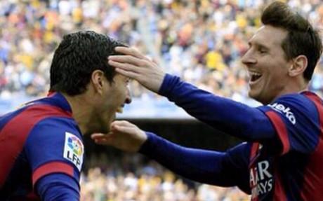 El mensaje de felicitación de Suárez a Messi